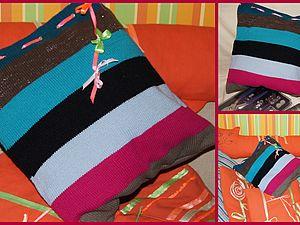 МК подушка-подружка или декоративная наволочка из чего попало :)   Ярмарка Мастеров - ручная работа, handmade