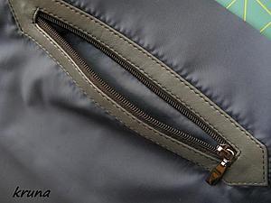 Как правильно обработать на подкладке сумки прорезной карман с накладной кожаной рамкой | Ярмарка Мастеров - ручная работа, handmade