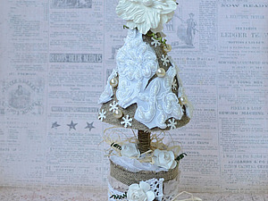 Нежно-снежная елочка   Ярмарка Мастеров - ручная работа, handmade