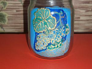 Декупаж по стеклу   Ярмарка Мастеров - ручная работа, handmade
