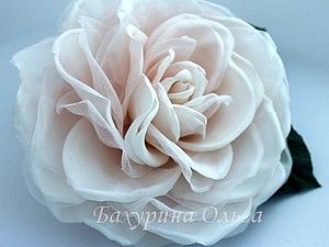 Цветы из шёлка.Мастер-класс Роза Мариетта | Ярмарка Мастеров - ручная работа, handmade