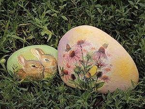 Декупаж Камней. Идея декора для сада. Ярмарка Мастеров - ручная работа, handmade.