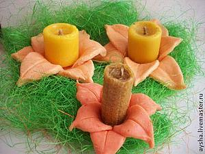 Подсвечник для восковой свечи