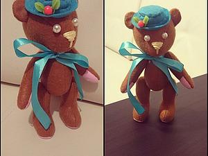 Необычный Мишка Тедди из обычного фетра. Ярмарка Мастеров - ручная работа, handmade.