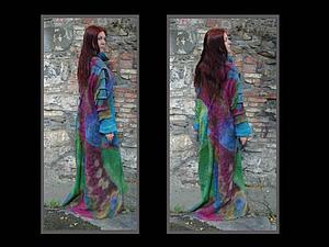 Платье с рукавами в технике нуно фельт от Май Хвистендал   Ярмарка Мастеров - ручная работа, handmade