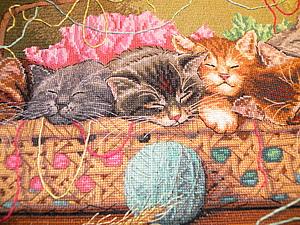 Схемы вышивка крестом новорожденные котята