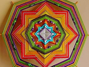 Индейская мандала Ojo De Dios | Ярмарка Мастеров - ручная работа, handmade