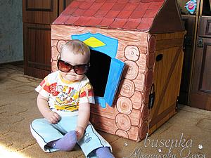 Домик из картонной коробки для малышей. Ярмарка Мастеров - ручная работа, handmade.