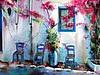 Мастер-класс по рисованию пастелью: греческая улочка