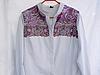 переделанная блузка. фотография переделанной обновленной блузки.