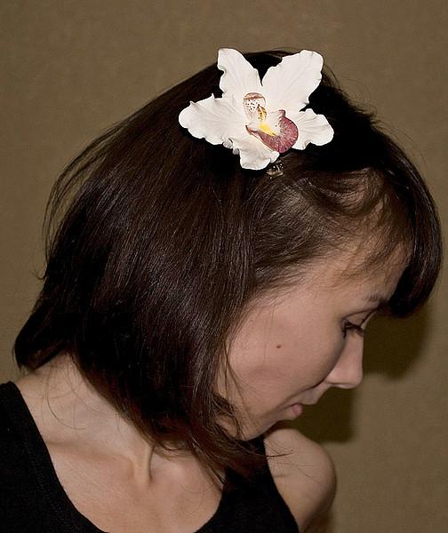 фото орхидеи в волосах