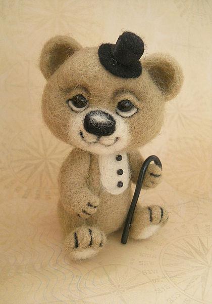 мастер-класс по валянию, игрушка из шерсти, обучение валянию, сухое валяние, валяние из шерсти, научиться валять, шарнирная игрушка, валяный мишка, игрушка мишка