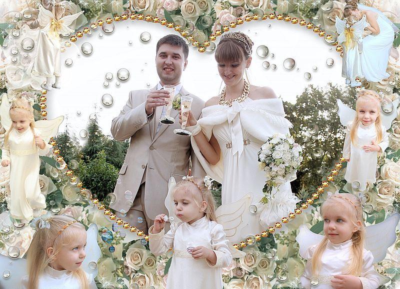 свадебная прогулка - ангелочек - мыльные пузыри