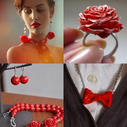 Самые разные украшения в красном цвете