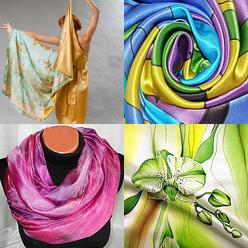 Великолепные шелковые шали и палантины