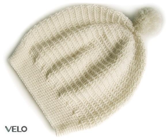 шапка с помпоном женская связать.