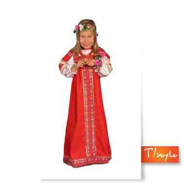 Детское русское народное платье на прокат DK 115.