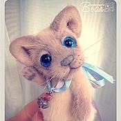 Куклы и игрушки ручной работы. Ярмарка Мастеров - ручная работа котёнок окраса лайлак-пойнт. Handmade.