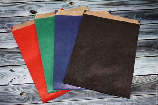Упаковка ручной работы. Ярмарка Мастеров - ручная работа. Купить Упаковочный крафт пакет цветной, 3 цвета. Handmade.