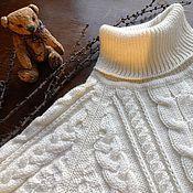 Джемперы ручной работы. Ярмарка Мастеров - ручная работа Свитер вязаный косами с высоким воротом. Handmade.
