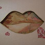 Открытки ручной работы. Ярмарка Мастеров - ручная работа Осенний поцелуй. Handmade.