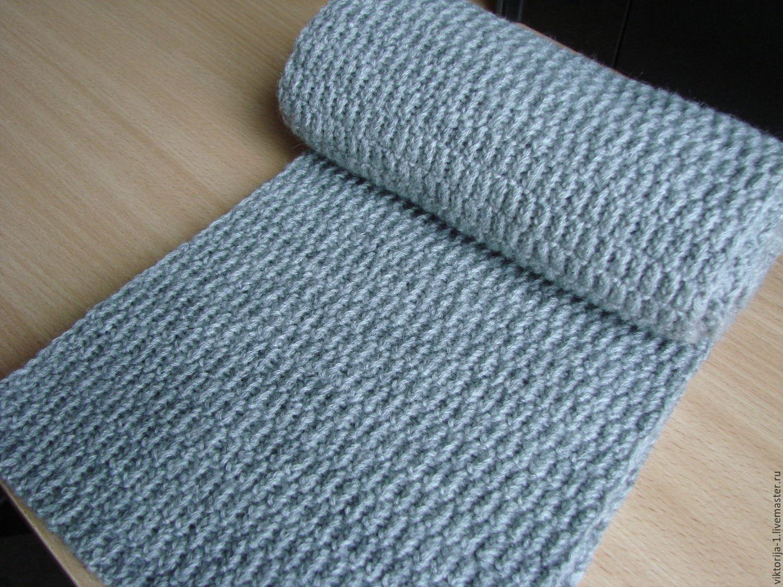 Английская резинка для начинающих Легкая схема вязания
