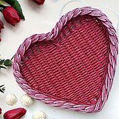 Подарки на 8 марта ручной работы. Ярмарка Мастеров - ручная работа Набор подносов Рубиновое сердце. Handmade.