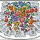 Вышивка ручной работы. Заказать Ретро схема для вышивки сумочки Кружево цветов. Наталья (Zabka) Жабицкая. Ярмарка Мастеров. Разноцветный