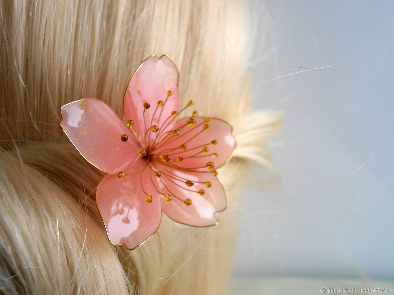 Sakura flower, Hairpins, Cheboksary,  Фото №1