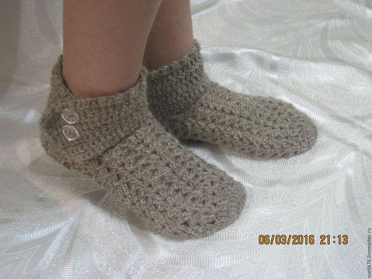 Обувь ручной работы. Ярмарка Мастеров - ручная работа. Купить следки носки вязаные. Handmade. Следки, тапки