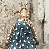 Подарки к праздникам ручной работы. Ярмарка Мастеров - ручная работа Ватная игрушка на ёлку Олень. Handmade.