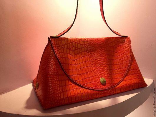 Женские сумки ручной работы. Ярмарка Мастеров - ручная работа. Купить сумка дамская. Handmade. Рыжий, металлическая фурнитура