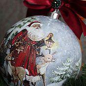 """Подарки к праздникам ручной работы. Ярмарка Мастеров - ручная работа Новогодний шар """"Рождественская сказка"""". Handmade."""