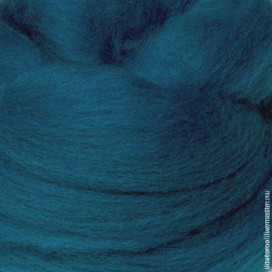 Валяние ручной работы. Ярмарка Мастеров - ручная работа. Купить Шерсть для валяния Австралийский меринос Бухта. Handmade. Синий