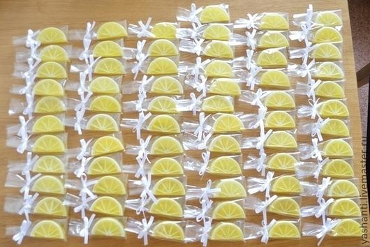"""Мыло ручной работы. Ярмарка Мастеров - ручная работа. Купить Мыло """"Лимонные дольки"""" (на свадьбу, бонбоньерки). Handmade. для гостей"""