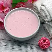 Косметика ручной работы handmade. Livemaster - original item Cream peeling for washing Pink cloud. Handmade.
