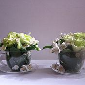 Цветы и флористика ручной работы. Ярмарка Мастеров - ручная работа Чайное действо..... Handmade.