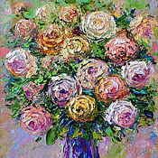 """Картины и панно ручной работы. Ярмарка Мастеров - ручная работа Картина розы """"Трепет Восторга"""" картина маслом с розами. Handmade."""