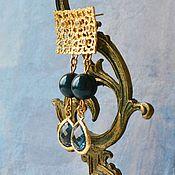 Украшения handmade. Livemaster - original item Earrings-ear-stud: Gold plated earrings Blu fantasy. Handmade.