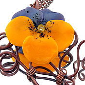 Украшения handmade. Livemaster - original item Pendant Violet lampwork. Handmade.