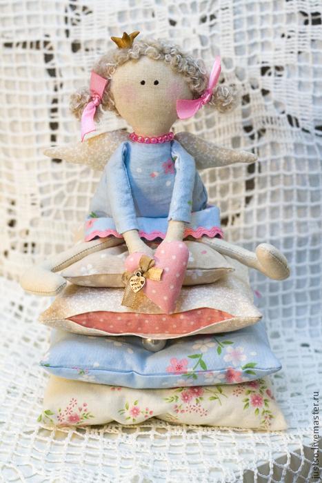 Куклы Тильды ручной работы. Ярмарка Мастеров - ручная работа. Купить Принцесса на горошине. Handmade. Голубой, принцесса, подарок девушке