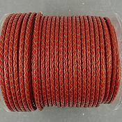 Материалы для творчества handmade. Livemaster - original item 50 cm braided RED Cord leather 3 mm (art. 2809). Handmade.