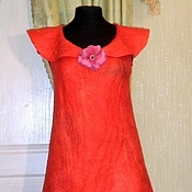 """Одежда ручной работы. Ярмарка Мастеров - ручная работа Валяное платье """" Алоцвет"""". Handmade."""
