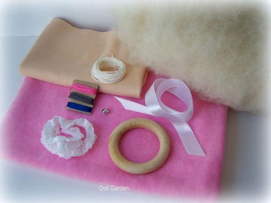 Куклы и игрушки ручной работы. Ярмарка Мастеров - ручная работа. Купить Набор материалов для пошива вальдорфской куклы - бабочки. Handmade.