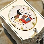 """Для дома и интерьера ручной работы. Ярмарка Мастеров - ручная работа Мини-комод  """"Персидские лошадки"""". Handmade."""