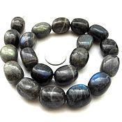 Лабрадор 20 камней набор бусины галтовка серый крупный