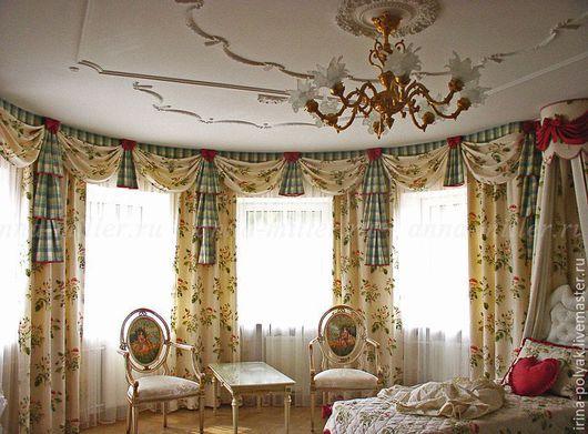 Текстиль, ковры ручной работы. Ярмарка Мастеров - ручная работа. Купить Шторы для спальни. Handmade. Комбинированный, шторы, шторы на заказ
