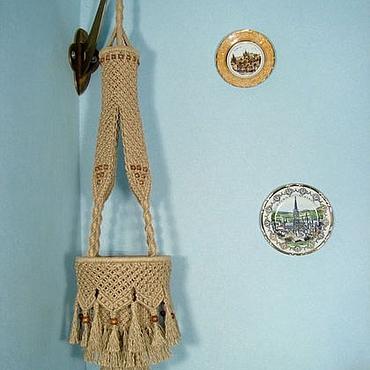 """Цветы и флористика ручной работы. Ярмарка Мастеров - ручная работа """"Шахерезада"""", плетёное подвесное кашпо, макраме. Handmade."""