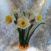 Цветы ручной работы. Ярмарка Мастеров - ручная работа Нарцисы из бисера. Handmade.