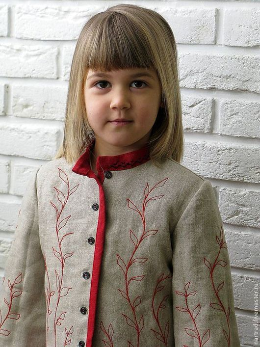 Одежда для девочек, ручной работы. Ярмарка Мастеров - ручная работа. Купить Жакет льняной для девочки. Handmade. Серый, лён 100%
